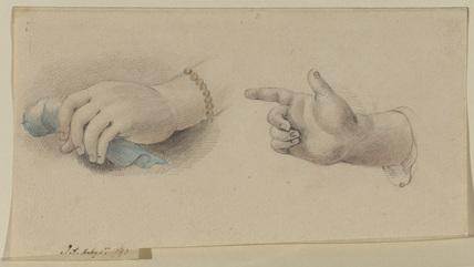 Two studies of hands