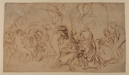 Study for 'The Bath of Diana' (recto)