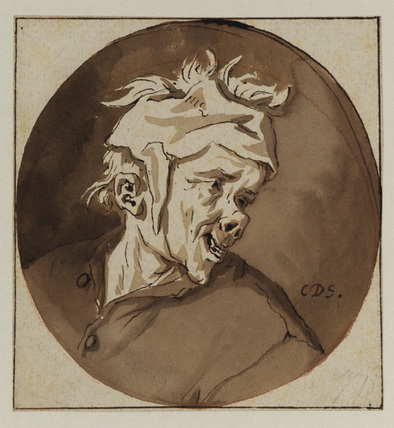 Caricature head of a man