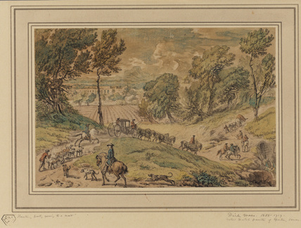 Landscape with hunting party going to a meet