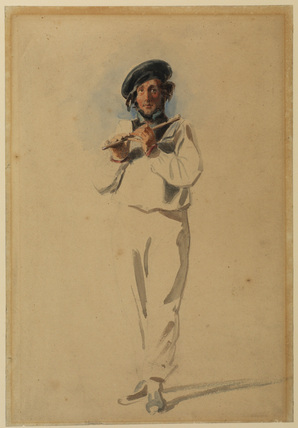 Man playing a flute