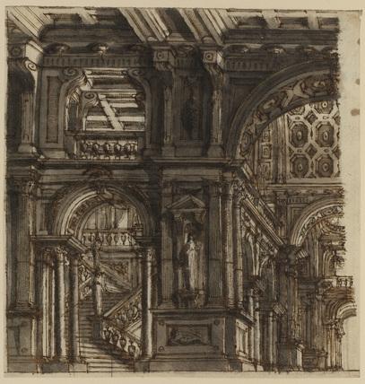 Architectural capriccio  (recto)