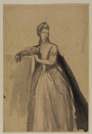 Sketch for a full-length portrait of a lady