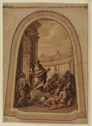 Preaching of Saint Paul at Athens (design for the decoration of the dome of Saint Paul's, London)