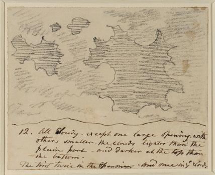 Cloud study (after Alexander Cozens' 'Engravings of Skies')