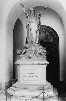 Camposanto di Staglieno;Monument to the Figoli family, detail, statue of Ezekiel