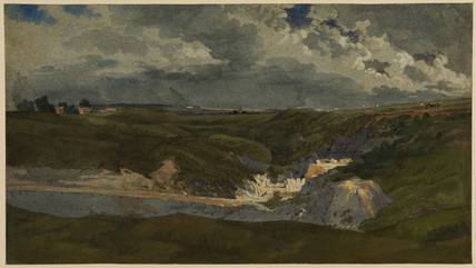 Quarries at Shotover, near Oxford (recto)
