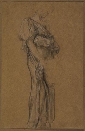 Study of a draped female figure
