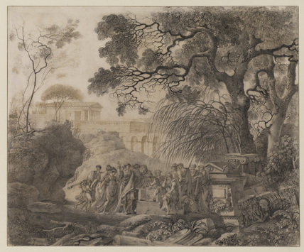 Classical landscape - illustration to Johnson's 'Rasselas'