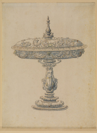 Design for an ornamental cup and cover