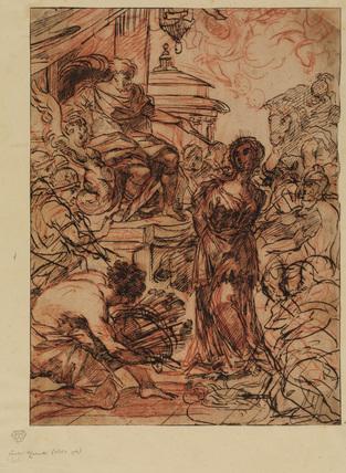 Martyrdom of a female saint