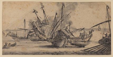 Sailing galleys in combat