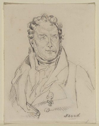 Self-portrait - study for the portrait in the Vicomtesse Fleury collection (recto)