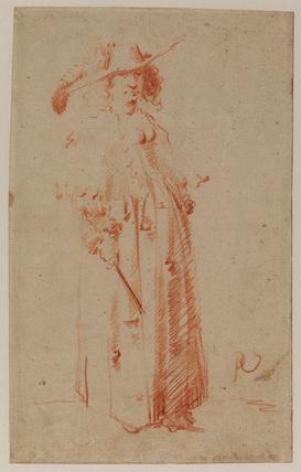 Woman in fashionable dress