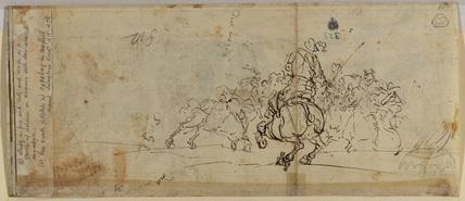 Cavalry combat (verso)