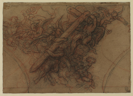 Angels carrying the Cross (verso)