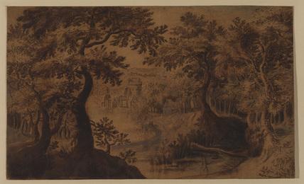 Wood landscape with vista