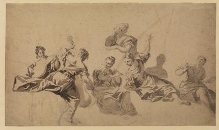 Allegorical female figures