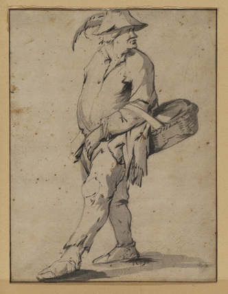 Peasant carrying a basket