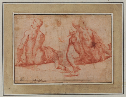 Study of a crucified Christ (verso)