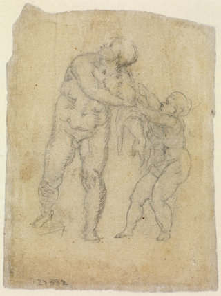 Aeneas and Cupid (verso)