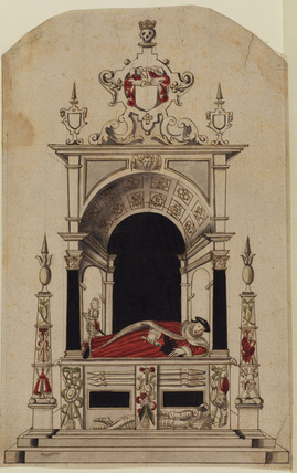 Design for a memorial to Sir Robert Gardener and his son at Elmswell, Suffolk