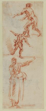 Three figure studies (recto)
