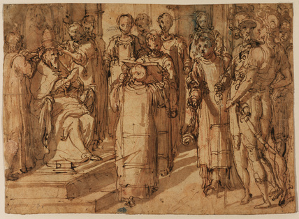 Crowning of a pope - Pius V (?)