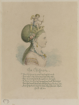 The Chignon - bust of woman, with cupid seated on her hair