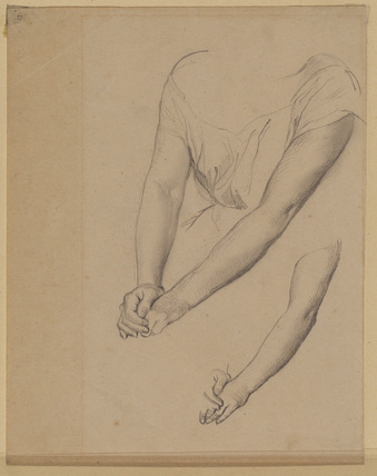 Studies of arms for a seated female figure