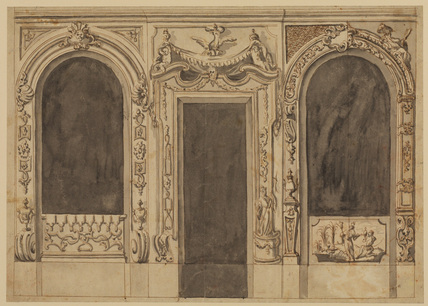 Design for the decoration of the wall of a salon