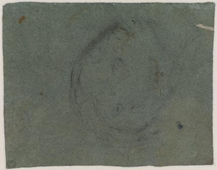 Study of a female head (verso)