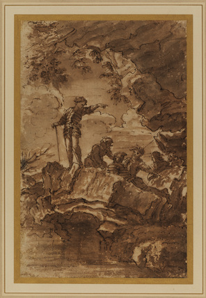 Rocky landscape with soldiers