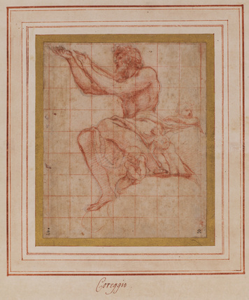 Christ; a study for 'The Coronation of the Virgin'