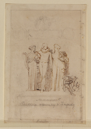Study for 'Shakespeare between Tragedy and Comedy'