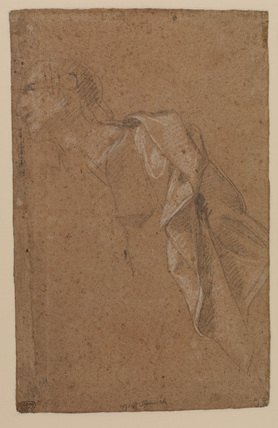 Man with drapery (verso)