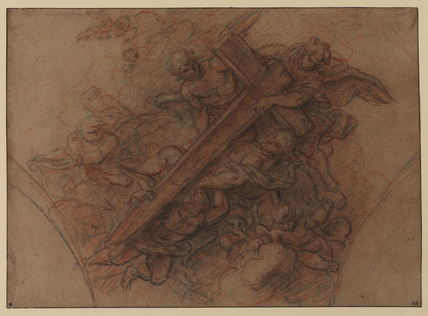 Angels carrying the Cross (recto and verso)