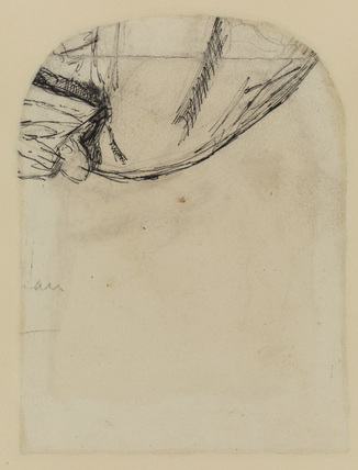 Unidentified sketch (verso)