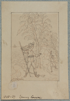 Illustration to 'Robinson Crusoe'