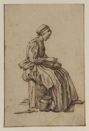 Woman seated with a bowl