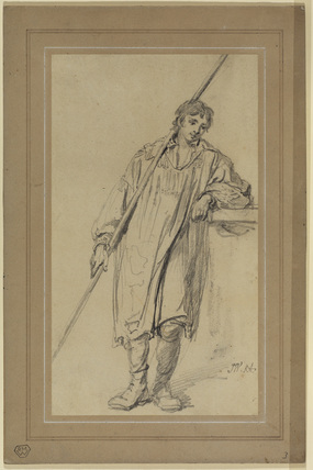 Young man in a smock