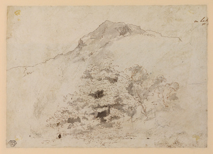 Scottish landscape (verso)