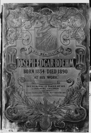 St Paul's Cathedral;The Crypt;Plaque to Sir J.E. Boehm