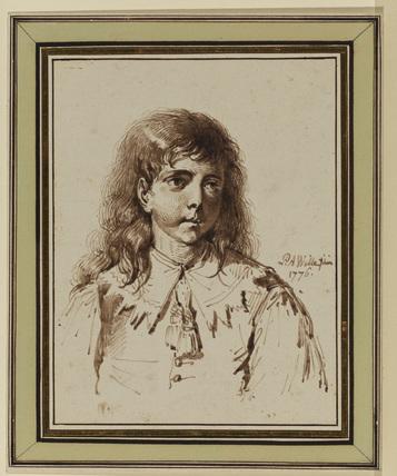 Bust portrait of a boy in Van Dyck dress