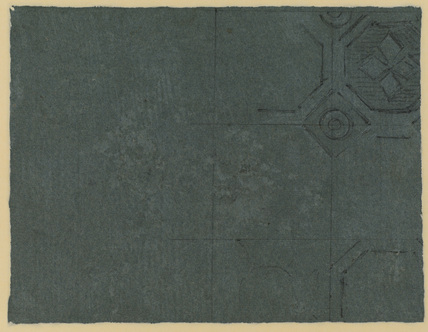 Ceiling decoration (?) (verso)