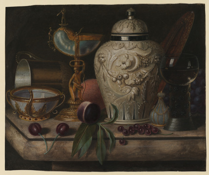 Still life with large jar