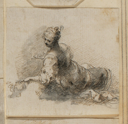 Female figure, reclining