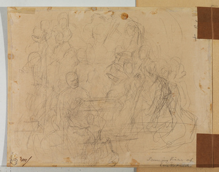 Figure sketches (verso)