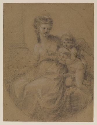 Study for the portrait of the Marchioness of Townshend and son (collection Earl of Yarborough)