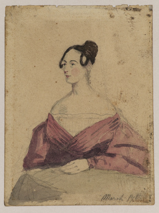 Portrait sketch of a lady